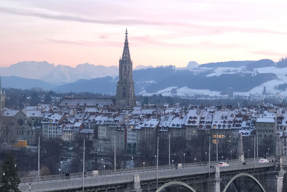 Panorama Brunch Bern Aussicht Winter